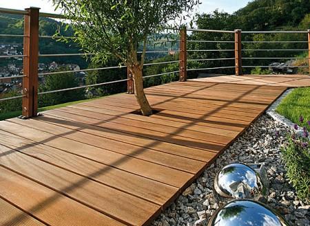 Gartenholz Terrasse