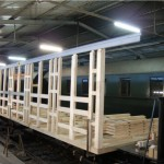 Herstellung Eisenbahnwaggon aus BSH Eiche
