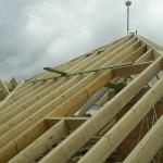 Errichtung Dachstuhl aus Fi/Ta KVH NSI