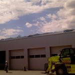 Bauvorhaben in Monheim 2011 - gesamt ca. 15300 m² Stahlsandwichelemente Dach und Wand