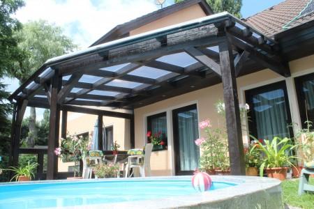 Terrassenüberdachung mit 16 mm Doppelstegplatten